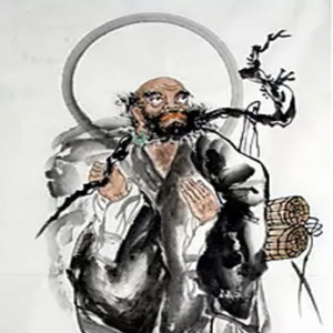 Japanese martial arts ink painting